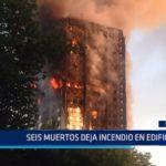 Inglaterra: Seis muertos deja incendio en edificio