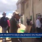 Huamachuco: Incendio dejó un muerto