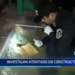 Piura: Investigan atentado en constructora