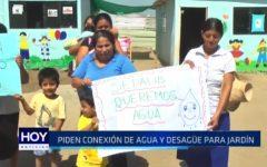 La Esperanza: Piden conexión de agua y desagüe para jardín