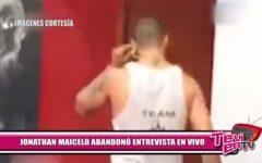 Jonathan Maicelo abandonó entrevista en vivo