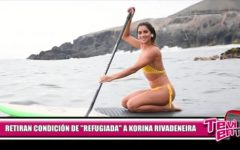 """Retiran condición de """"refugiada"""" a Korina Rivadeneira"""