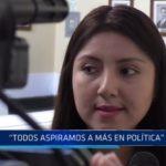"""Liseth Ruiz: """"Todos aspiramos a más en política"""""""