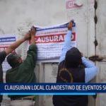 Víctor Larco: Clausuran local clandestino de eventos sociales