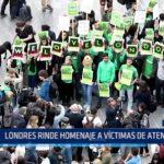 Londres rinde homenaje a víctimas de atentados