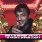 Maluma escandaliza con apenas un minuto de su nueva canción