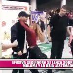 Efusiva seguidora se lanza sobre Maluma y lo deja lastimado