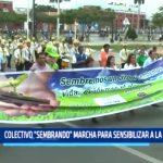 """Trujillo: Colectivo """"Sembrando"""" marcha para sensibilizar a escolares"""