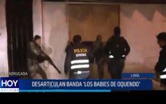 """Lima: Desarticulan banda """"Los babies de Oquendo"""""""