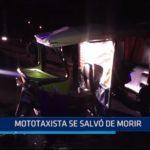 Piura: Mototaxista salvó de morir
