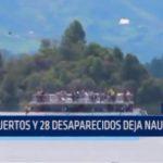 Colombia: Nueve muertos y 28 desaparecidos deja naufragio