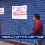 Trujillo: Clausuran stands de El Virrey y Zona Franca