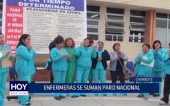 Chimbote: Enfermeras se suman al paro nacional