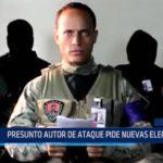 Venezuela: Presunto autor de ataque pide nuevas elecciones