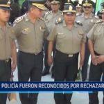 Iquitos: Policías recibieron reconocimiento por rechazar coima