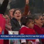 Argentina: Personas con discapacidad protestan por sus derechos