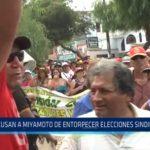 Acusan a Miyamoto de entorpecer elecciones sindicalistas