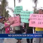 Moradores del sector Virgen del Socorro no quieren ser desalojados