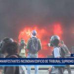 Venezuela: Manifestantes incendian edificio de Tribunal Supremo de Justicia