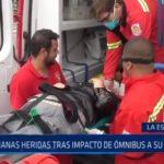 La Esperanza: Ancianas heridas tras impacto de ómnibus a su vehículo