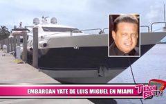 Embargan yate de Luis Miguel en Miami