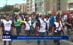 Jóvenes adventistas limpian Trujillo