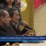 Exigen celeridad en ejecución de principales obras para Trujillo