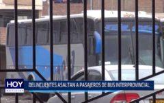 Agallpampa: Delincuentes asaltan a pasajeros de bus interprovincial
