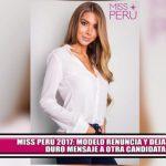 Miss Perú 2017: Modelo renuncia y deja duro mensaje a otra candidata