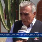 La Libertad: Se amplía declaratoria de emergencia por 45 días más