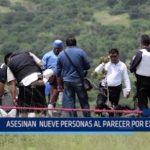 México: Asesinan a nueve personas, al parecer, por extorsión