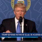 Trump defiende retiro de EE.UU. del Acuerdo de París