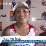 """Evelyn Inga: """"Ha sido una prueba muy rápida, pero logré seguir el paso y ganar la medalla para el Perú"""""""