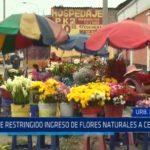 Sigue restringido ingreso de flores naturales a cementerio