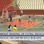Comenzó regional de Futsal Escolar