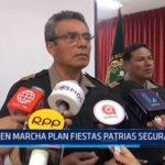 Trujillo: En marcha plan Fiestas Patrias seguras