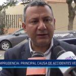 """Gerente de Transportes: """"Imprudencia es principal causa de accidentes vehiculares"""""""