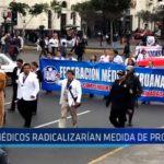 Médicos radicalizarían medida de protesta
