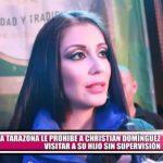 Karla Tarazona prohíbe a Christian Domínguez visitar a su hijo sin supervisión