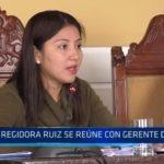 MPT: Regidora Ruiz se reúne con gerente del SEGAT