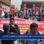 CGTP cumple jornada de lucha nacional