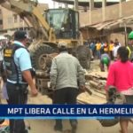 Municipalidad de Trujillo libera calle en La Hermelinda