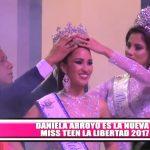 Daniella Arroyo fue elegida Miss Teen La Libertad 2017