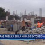 El Porvenir: Obras públicas en la mira de extorsionadores