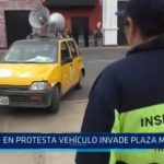 Trujillo: Vehículo invade Plaza Mayor durante protesta