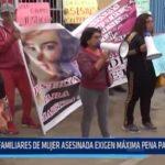 Chimbote: Familiares de mujer asesinada exigen máxima pena para pareja