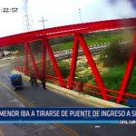 Piura: Menor intentaba tirarse de puente