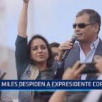 Ecuador: Miles despiden a expresidente Correa