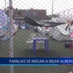 El Porvenir: Familias damnificadas se niegan a dejar albergues
