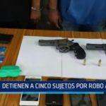 Detienen a cinco sujetos por robo agravado